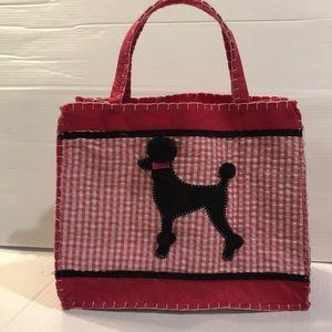 Poodle Appliquéd Felt Tote / Gift Bag